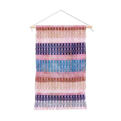 11 x15.5  Schatzi Brown Mila Stripe Multi Wall Hanging Portrait Pink - Deny Designs