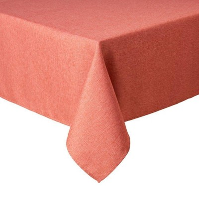 """60""""X144"""" Somers Tablecloth Coral - Town & Country Living"""