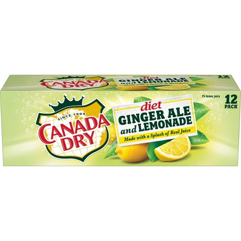 Canada Dry Diet Ginger Ale And Lemonade 12pk 12 Fl Oz Cans Target