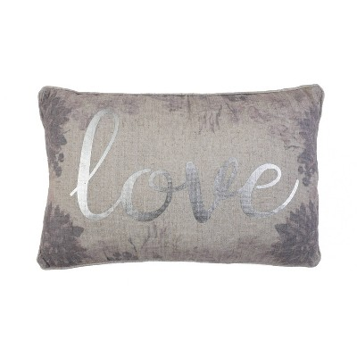 Lynette Love Lumbar Throw Pillow White/Pink - Décor Therapy