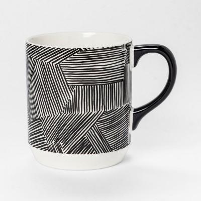 Broken Lines Jumbo Mug 26oz Black/White - Room Essentials™
