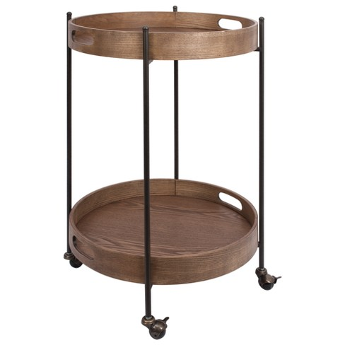 Miles Tier Round Bar Cart - Silverwood - image 1 of 1