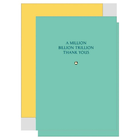 """A Million Billion Trillion Thank Yous"" Solitaire Notecards - 8 ct - image 1 of 1"