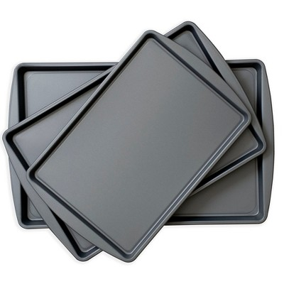 OvenStuff Non-Stick Set of Three Cookie Pans