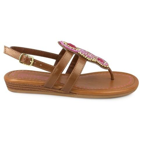 63f1a691eac5 Girls  CoverGirl Gabby Wedge Bead Thong Sandal   Target