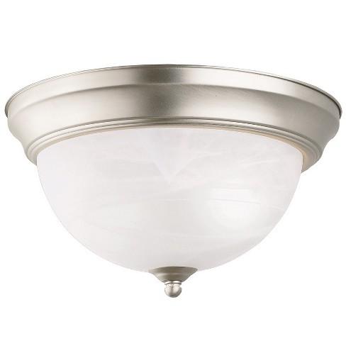 Kichler 8108 2 Light Flush Mount Indoor Ceiling Fixture Brushed Nickel