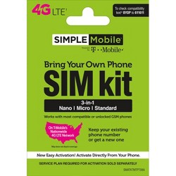 TracFone Bring Your Own Phone SIM Activation Kit : Target