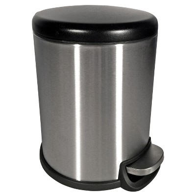 Round 5 Liter Trash Can - Stainless Steel - Room Essentials™