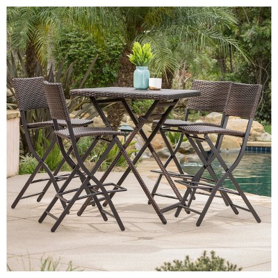 Delicieux Margarita 5pc All Weather Wicker Patio Bar Set   Brown   Christopher Knight  Home : Target