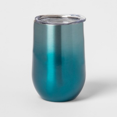 11.5oz Stainless Steel Wine Tumbler Blue