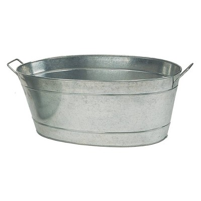"30.5"" Large Oval Galvanized Tub Steel - ACHLA Designs"