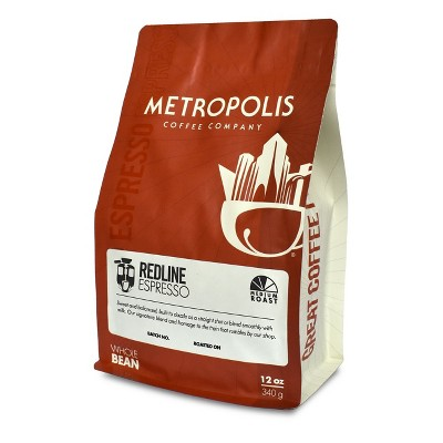 Metropolis Redline Espresso Medium Dark Roast Whole Bean Coffee - 12oz
