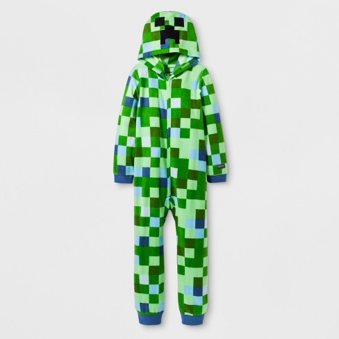 Boys' Minecraft Union Suit - Green - image 1 of 1