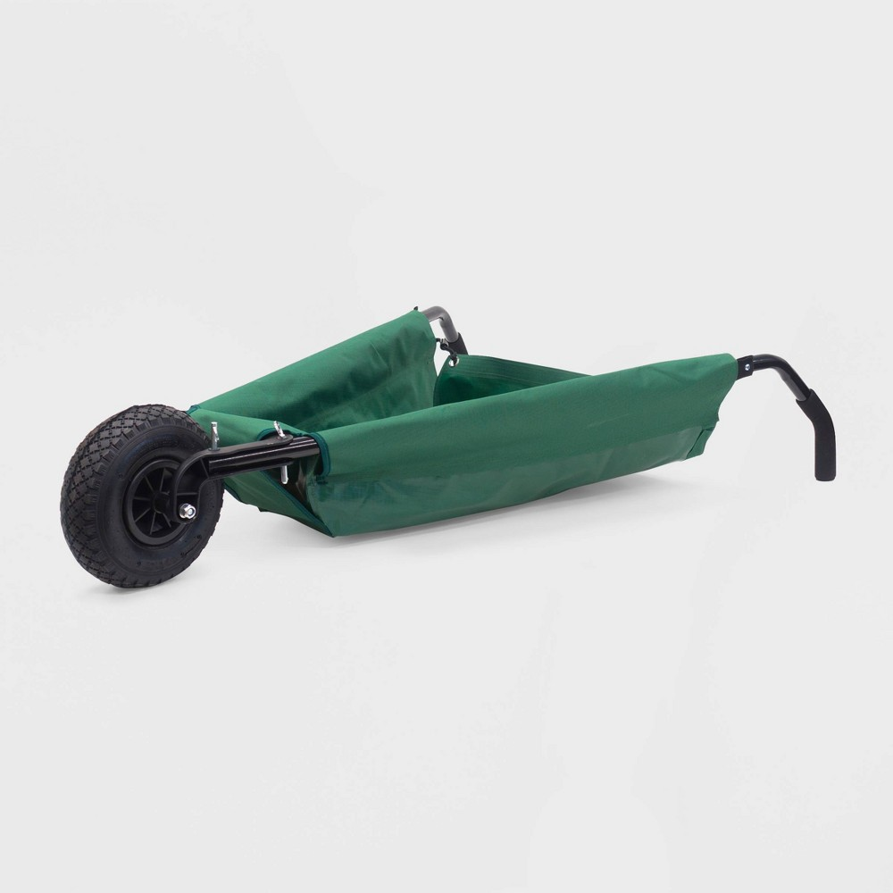 "Image of ""40"""" Creative Outdoor Folding Wheelbarrow Green"""