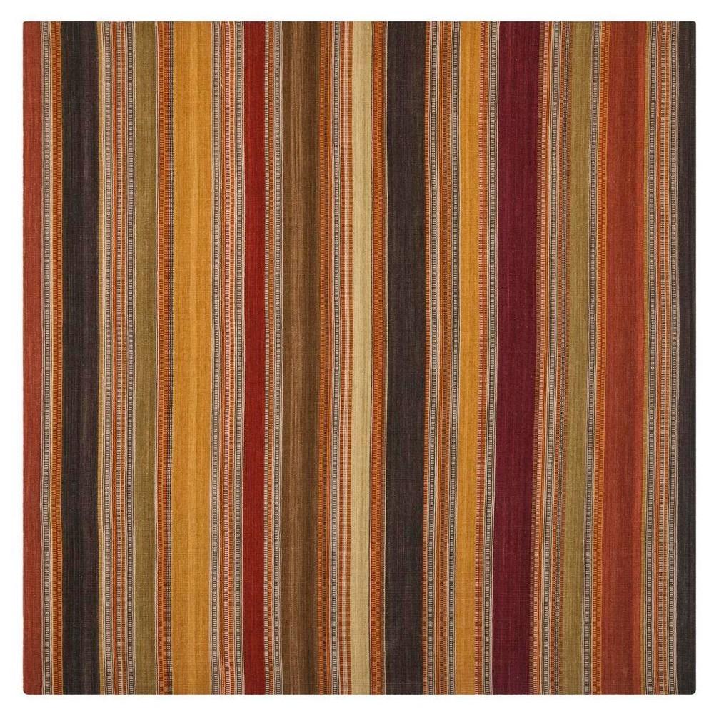 Striped Kilim Rug - Gold - (7'x7' Square) - Safavieh