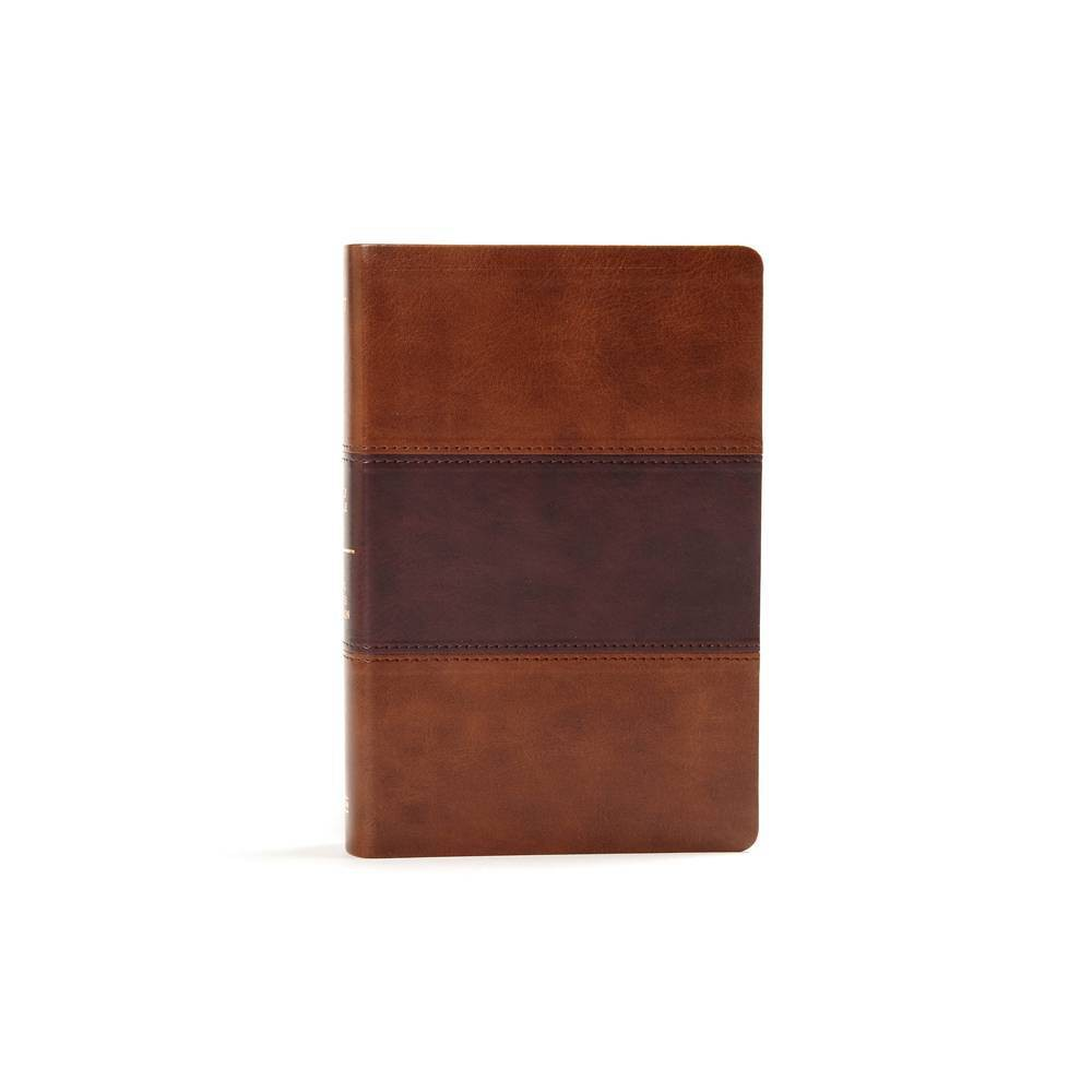 Kjv Large Print Personal Size Reference Bible Saddle Brown Leathertouch Indexed By Holman Bible Staff Leather Bound