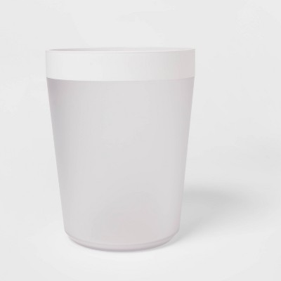 Wastebasket Frosted - Room Essentials™