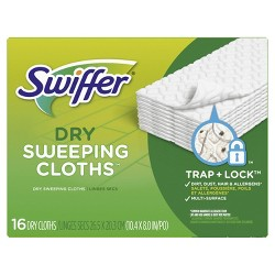 Swiffer Sweeper Dry Sweeping Pad Multi Surface Refills for Dusters Floor Mop - Unscented - 16ct