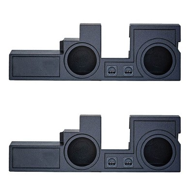 """Q Power Dual 10"""" Ported Enclosure Sub Box for Ford Super Duty 00-16 (2 Pack)"""