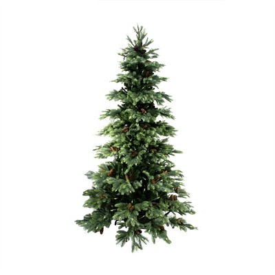 Allstate Floral 10' Prelit Artificial Christmas Tree New England Pine Medium with Pine Cones - Clear Lights