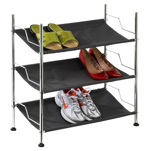 Honey-Can-Do 3 Tier Canvas Shoe Rack - image 1 of 2