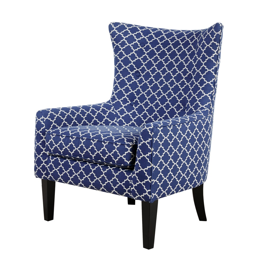Helena Shelter Wing Chair Navy was $399.0 now $279.3 (30.0% off)