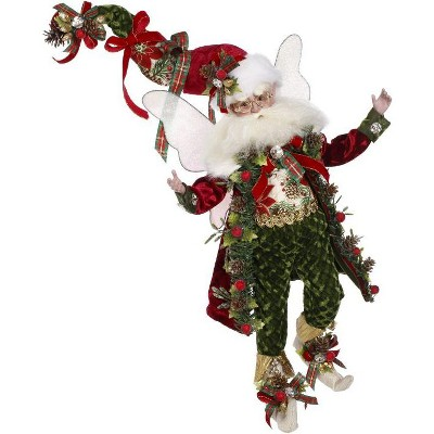 """Mark Roberts Products 15"""" Red and Green Mark Roberts Kris Kringle Christmas Fairy Figure"""