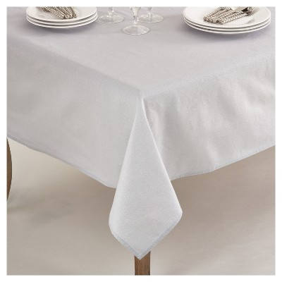 Silver Elegant Shimmer Classic Tablecloth (70 )- Saro Lifestyle®