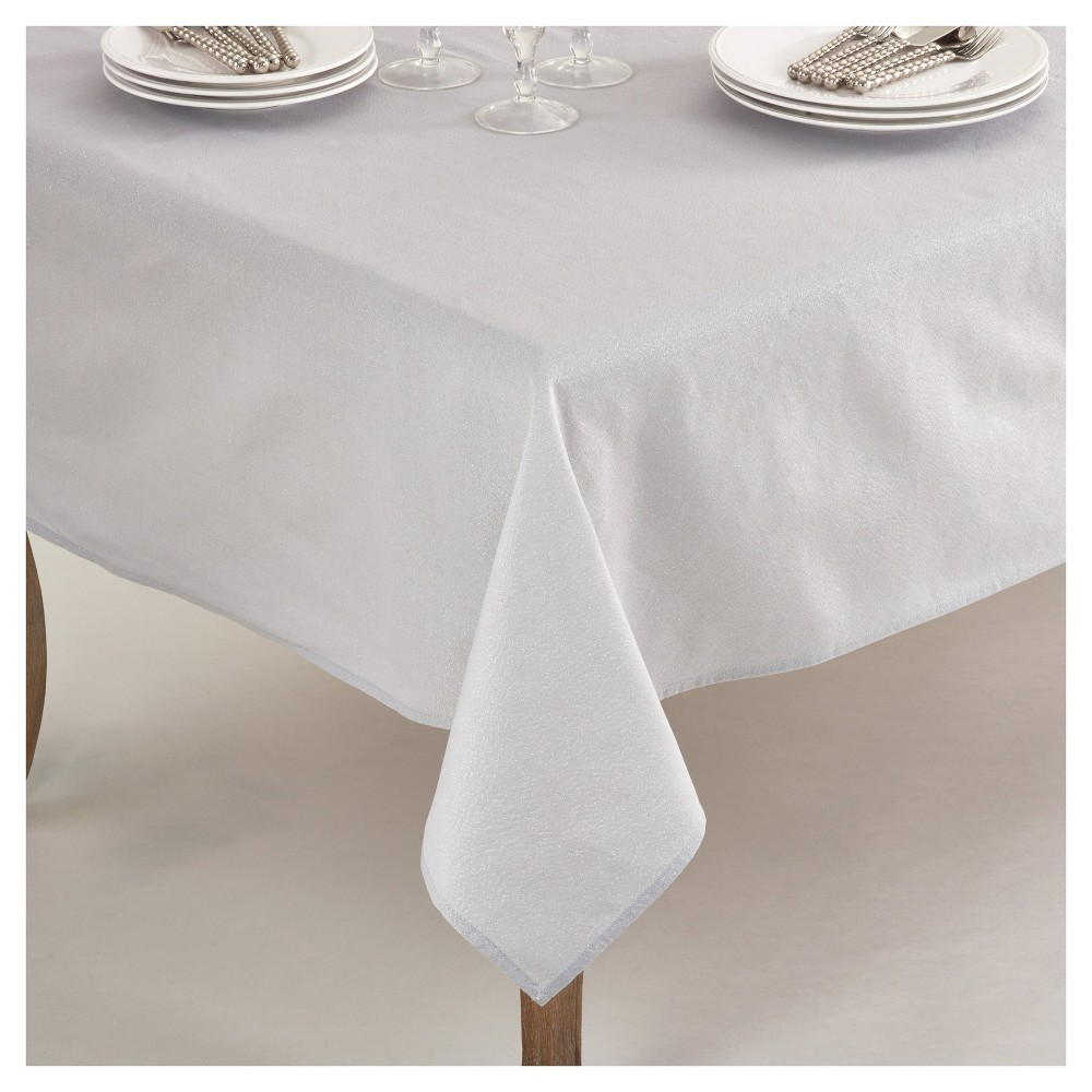 Best Price Silver Elegant Shimmer Classic Tablecloth 70 Saro Lifestyle Soft Silver