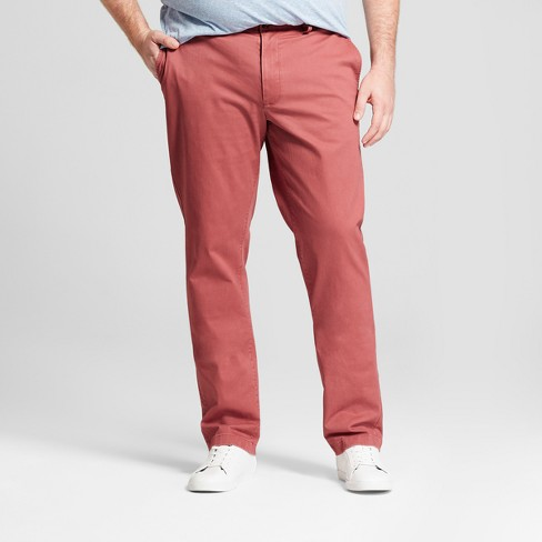 Men's Big & Tall Athletic Fit Hennepin Chino Pants - Goodfellow & Co™ Dusty Red - image 1 of 3