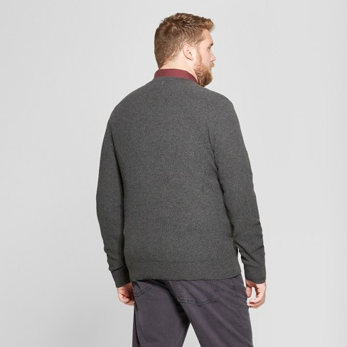 68a0842234 Men s Big   Tall Long Sleeve V-Neck Sweater - Goodfellow   Co™ Medium  Heather Gray 4XB   Target