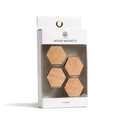 U-Brands 4ct Wood Magnets