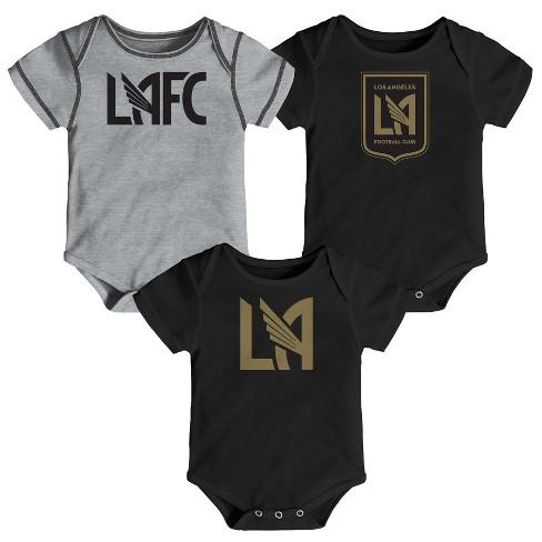 MLS Baby 3pk Onesies Los Angeles FC - image 1 of 4