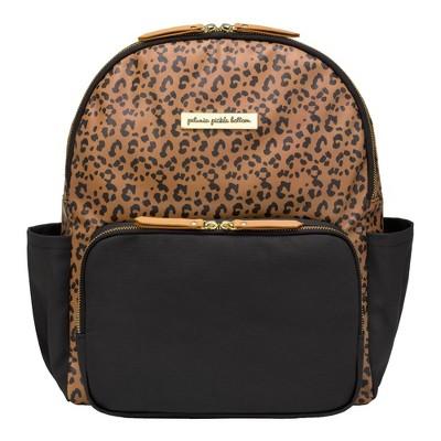 Petunia Pickle Bottom District Backpack Diaper Bag Set - Leopard Black 5pc