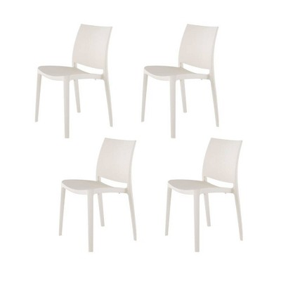 4pc Sensilla Stackable Dining Chairs - Lagoon