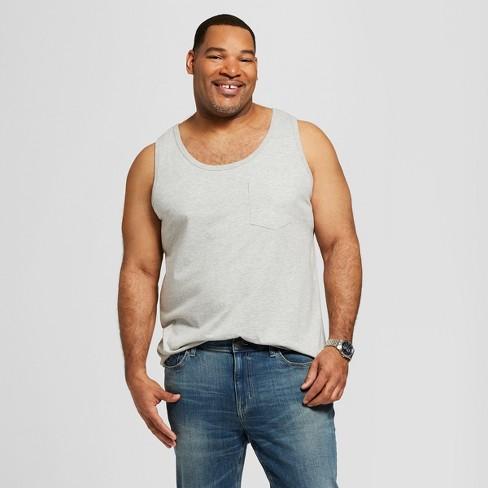 Men's Big & Tall Novelty Tank Top - Goodfellow & Co™ Masonry Gray 4XB - image 1 of 3