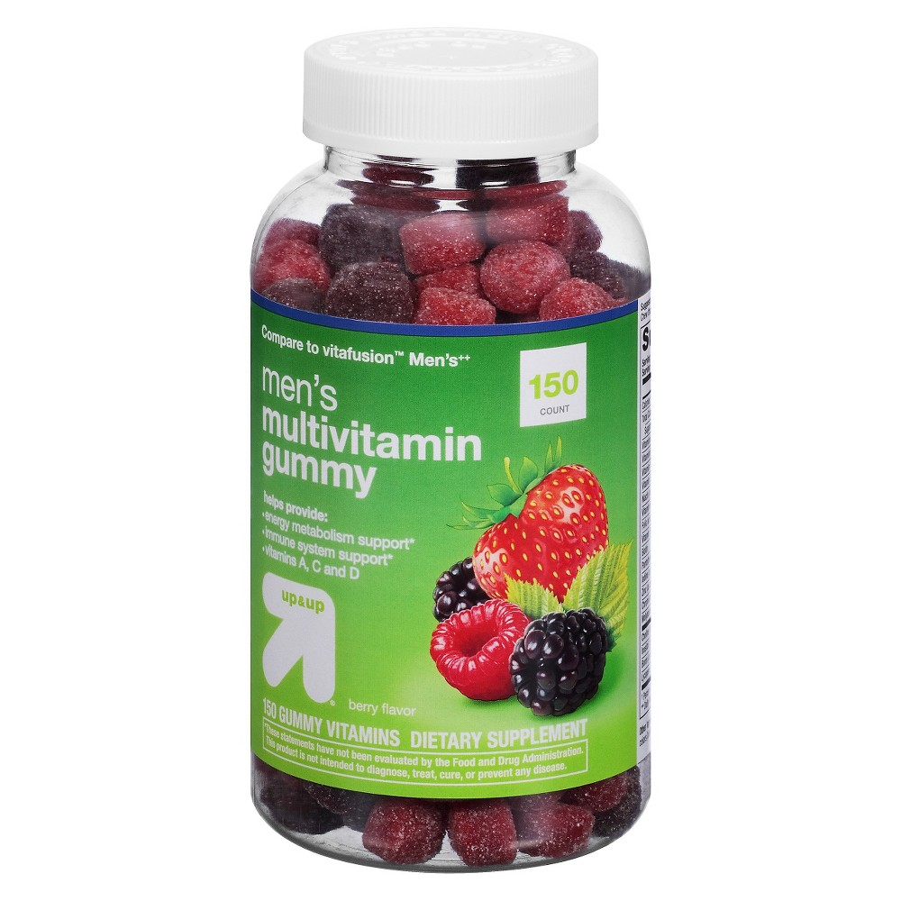 Men's Multivitamin Gummies- Berry - 150ct - Up&Up up and up Men's Multivitamin Adult Gummies help provide energy metabolism and immune system support along with vitamins A, C and D. This supplement is comparable to vitafusion's Men's Multivitamin Gummy. Gender: Male.