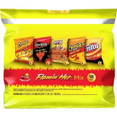 Frito-Lay Flamin' Hot Mix, Variety Snack Pack - 18ct