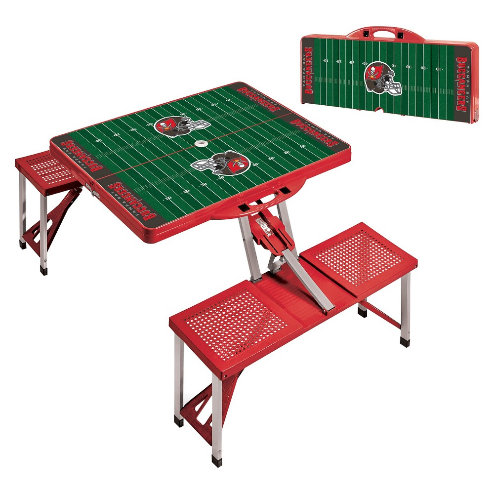 Picnic Time Picnic Table Sport - NFL Tampa Bay Buccaneers - Red