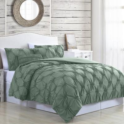 Modern Threads 5-Piece Solid Textured Comforter Set Alanis.