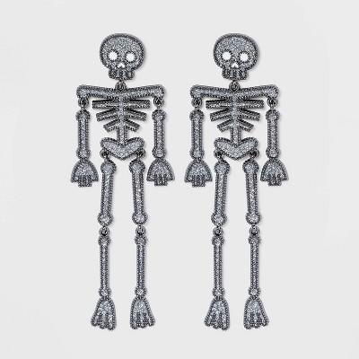 SUGARFIX by BaubleBar Skeleton Drop Earrings - Black
