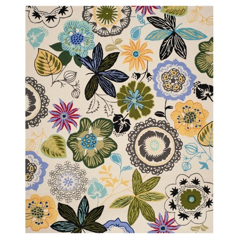 Hooked Floral Area Rug - Safavieh - image 1 of 2