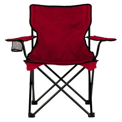 TravelChair 589 C Series Rider Foldable Lightweight Portable Outdoor Camping Chair with Carry Bag, Red