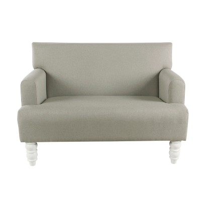 Kids Settee Stain Resistant Gray   Home Pop by Home Pop