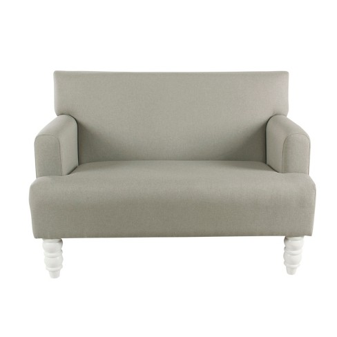 Kids Settee Stain Resistant Gray - HomePop - image 1 of 9