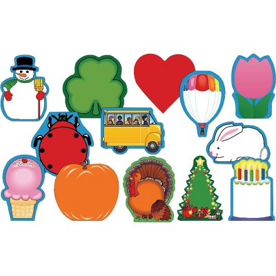 Creative Shapes Etc Mini Seasonal Notepads, 3-1/2 x 3 Inches, set of 13, Styles Will Vary