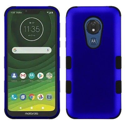 MYBAT For Motorola Moto G7 Power/G7 Supra Blue Black Tuff Hard TPU Hybrid Case Cover