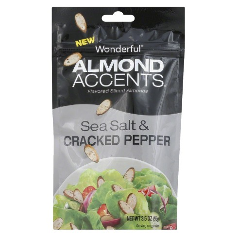 Almond Accents Wonderful Sea Salt & Cracked Pepper - 3.5oz - image 1 of 1