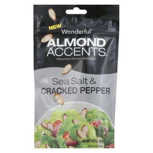 Almond Accents Wonderful Sea Salt & Cracked Pepper - 3.5oz - image 1 of 1