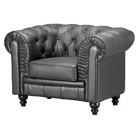 Modern Tufted Arm Chair - ZM Home - image 1 of 4
